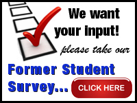 We want your input! Please take our Former Student Survey