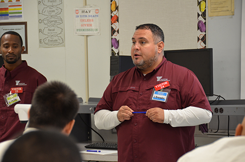 Granados returned to prison to speak to current offenders.
