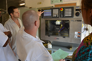 Students in the CNC Machining program at the Luther Unit learn valuable employment skills.