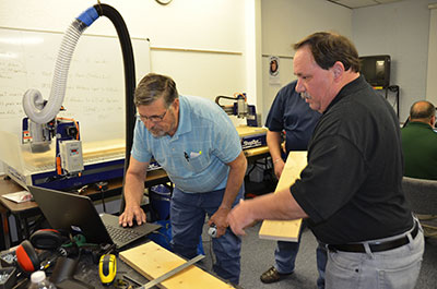 Vocational educators learn ShopBot® skills and teaching techniques for Windham classrooms in TDCJ facilities across the state.  Training is ongoing and aimed at helping students obtain middle-skill STEM abilities.