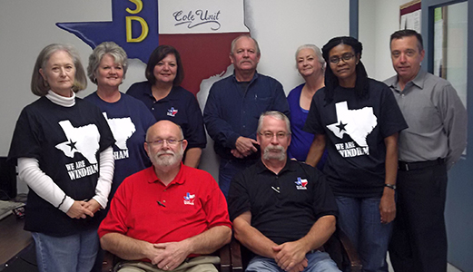"School staff photo:  ""We are Windham"" at the Cole State Jail in Bonham, Texas."