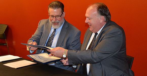 Collaboration signing: WSD - Gulf Coast Workforce Board