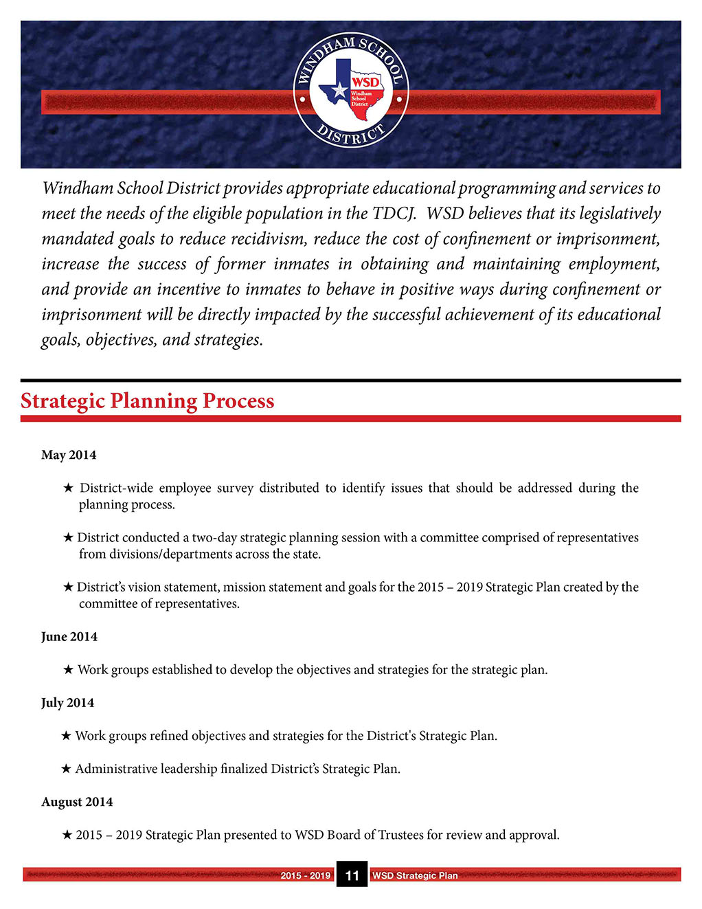 Strategic Plan 2015-2019