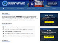 Website for Work - Reentry and Integration Division of Texas Department of Criminal Justice