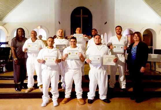Stringfellow Unit WSD High School Equivalency (HSE) graduates are (front row, l. to r.) R. Everjoel, J. Ramirez, J. Castro, (back row, l. to r.) M. Mitchell, S. Espino, J. Packer, D. Jarvis, J. Bertrand, and (not shown) C. Whitaker, J. Aleman, M. Ralvan, R. Esquive, F. Marrufo, G. Sanders, H. Medina, T. Wells, C. Sonnier and C. Manjares.