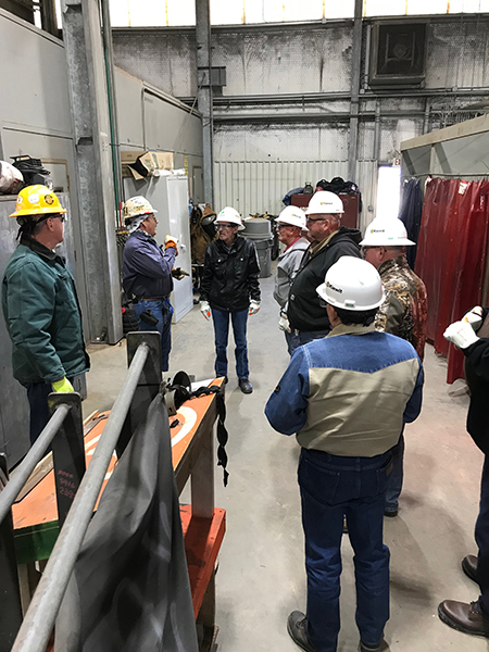 Windham School District's (WSD) tours Kiewit Offshore Services, Ltd. (KOS) one of the leading fabricators in the oil and gas industry