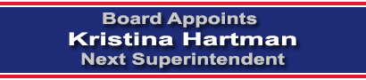 Board Appoints Kristina Hartman Next Superintendent
