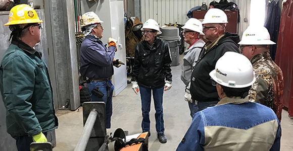 WSD tours Kiewit Offshore Services, Ltd. (KOS) one of the leading fabricators in oil / gas industry